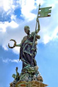 Franconia Statue Residenzplatz Würzburg